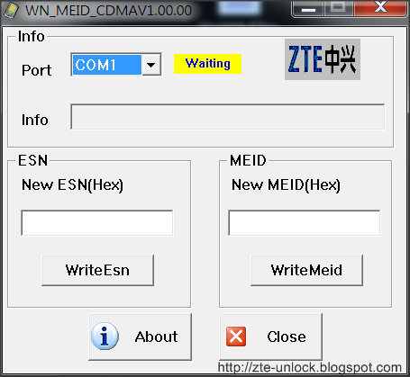 ZTE IMEI flash tool for