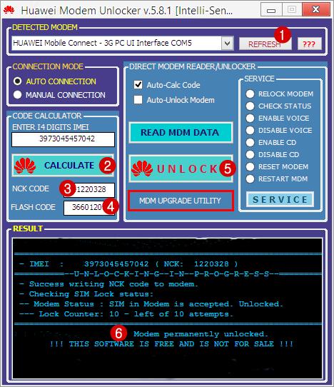 How to unlock idea net setter e1732 using dc unlocker key