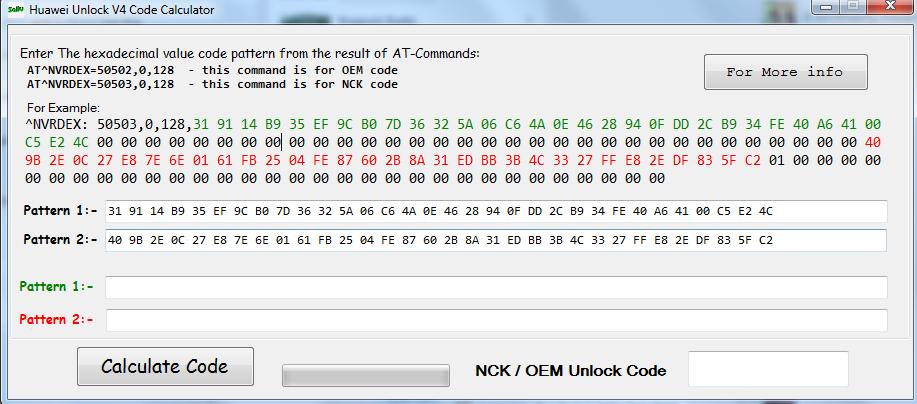 Huawei V4 And V5 Unlock Code Calculator